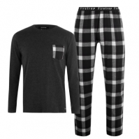 Firetrap cu Maneca Lunga Pyjama Set pentru Barbati