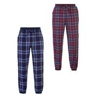 SoulCal Set Check Pyjama Bottoms pentru Barbati