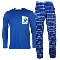 Team Portsmouth Checked Pyjama Set pentru Barbati