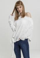 Pulover model asimetric pentru Femei alb Urban Classics