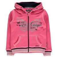 Bluza de trening Lee Cooper Glitzy Zipped Hooded de fete Junior