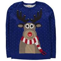 D555 Rudolph Lights Christmas Jumper pentru Barbati