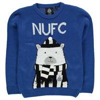 Team Newcastle United Christmas Jumper de baieti Junior