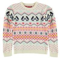 Star Xmas Knitted Jumper de fete Junior