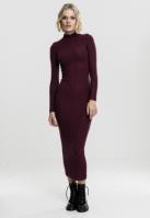 Rochie Long Turtleneck pentru Femei cherry Urban Classics