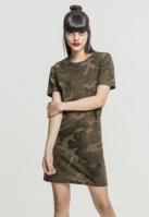 Rochie Camo Tee pentru Femei oliv-camuflaj Urban Classics