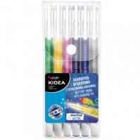 Set 6 Pixuri Colorate Cu Glitter Kidea
