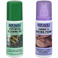 Adidasi sport Set A of impregnants Nikwax Fabric and din piele and Cleaning Gel for 2x125ml