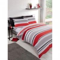 Linens and Lace Horizontal Stripe Duvet Cover Set