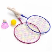 Set Badminton Meteor Enjoy 2 Rackets, bleumarin, mov 15041 pentru copii