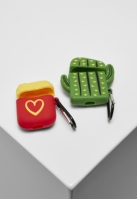 Set de 2 Popart Earphone Case verde-galben Urban Classics