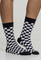Set Sosete Checker 2- negru-alb Urban Classics