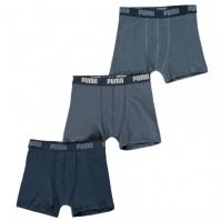 Boxeri Pantaloni scurti Puma 3 Pack de baieti Junior