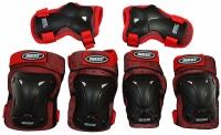 Set de 3 Protectie pentru ROCES cu aerisire JYR rosuUCES / rosu negru 301352 02 copii