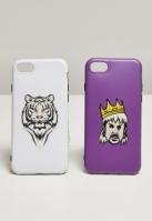 Set Huse telefon Big Cats I Phone 678 alb-violet Mister Tee