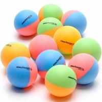 Set Mingi ping pong Of 12 Meteor Rainbow Colored 15025
