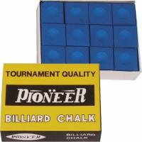 Set Pioneer Billiard Chalk albastru 12 barbati