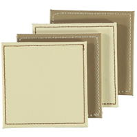 Ashwood Pack of 4 Faux din piele Reversible Coasters