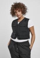 Short Tactical Vest pentru Femei negru Urban Classics
