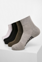 Sneaker Sosete High 6-. negru-alb Urban Classics