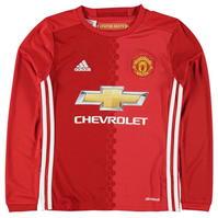 Tricou Acasa adidas Manchester United cu Maneca Lunga 2016 2017 de baieti Junior
