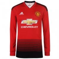 Tricou Acasa adidas Manchester United cu Maneca Lunga 2018 2019