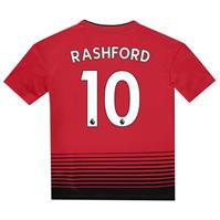 Tricou Acasa adidas Manchester United Marcus Rashford 2018 2019 Junior