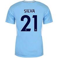Tricou Acasa Nike Manchester City Silva 2017 2018