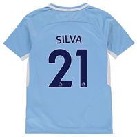 Tricou Acasa Nike Manchester City Silva 2017 2018 Junior