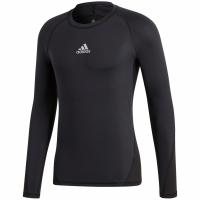 Bluza maneca lunga barbati adidas Alphaskin Sport negru CW9486 teamwear adidas teamwear