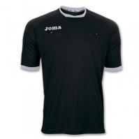 Tricou arbitru fotbal Joma cu maneca scurta negru