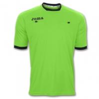 Tricou arbitru fotbal Joma cu maneca scurta verde Fluor