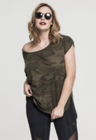 Camo Back Shaped Tee pentru Femei oliv-camuflaj Urban Classics