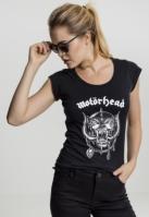 Tricou cu taieturi la spate Motorhead Logo pentru Femei negru Merchcode