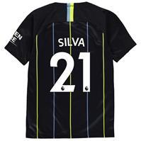 Tricou Deplasare Nike Manchester City David Silva 2018 2019 Junior