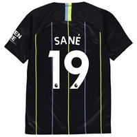 Tricou Deplasare Nike Manchester City Leroy Sane 2018 2019 Junior
