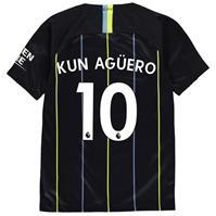 Tricou Deplasare Nike Manchester City Sergio Aguero 2018 2019 Junior