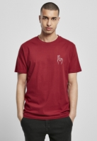 Tricou Easy Sign rosu-burgundy Mister Tee