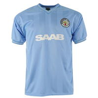 Score Draw Manchester City Football Club 1984 Home Jersey pentru Barbati