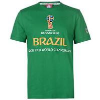 Tricouri FIFA World Cup Russia 2018 Brazil Graphic pentru Barbati