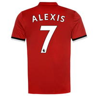Tricou adidas Manchester United Home Alexis Sanchez Football 2017 2018