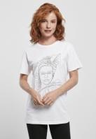 Tricou Frida Kahlo One Line pentru Femei alb Merchcode
