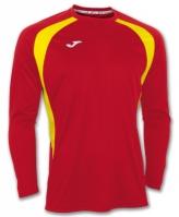 Tricou Joma Champion III rosu-galben cu maneca lunga