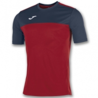 Tricouri Joma T- Winner rosu-bleumarin cu maneca scurta