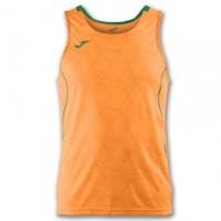 Tricou jogging Record Joma II Orange-verde fara maneci