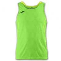 Tricou jogging Record Joma II verde Fluor-galben fara maneci