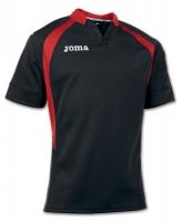 Tricou Rugby Joma negru-rosu cu maneca scurta