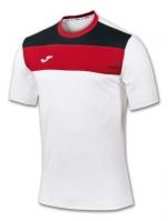 Tricou Joma sport Crew II alb-rosu cu maneca scurta