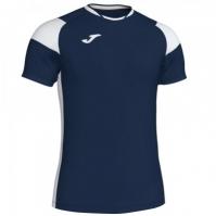 Tricou Joma sport Crew II III bleumarin-alb cu maneca scurta