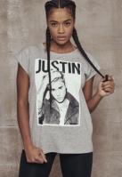 Justin Bieber Tee pentru Femei deschis-gri Mister Tee